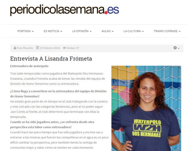 La Semana de Dos Hermanas / Lisandra Frómeta
