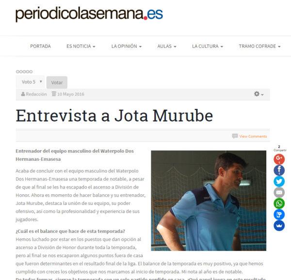 La Semana / Entrevista a 'Jota' Murube