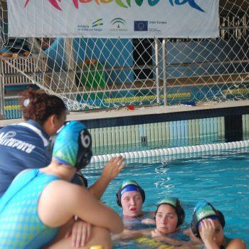 El equipo nazareno, durante un partido en casa