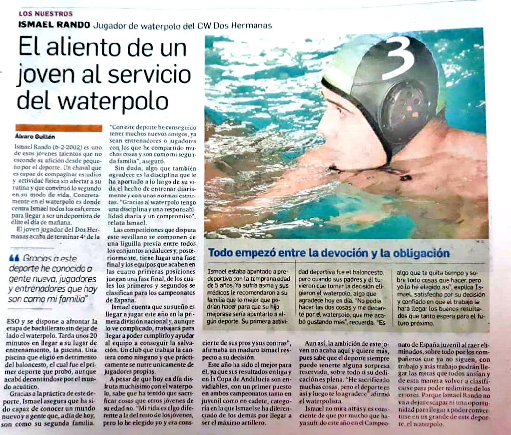 Ismael Rando: El aliento de un joven al servicio del waterpolo