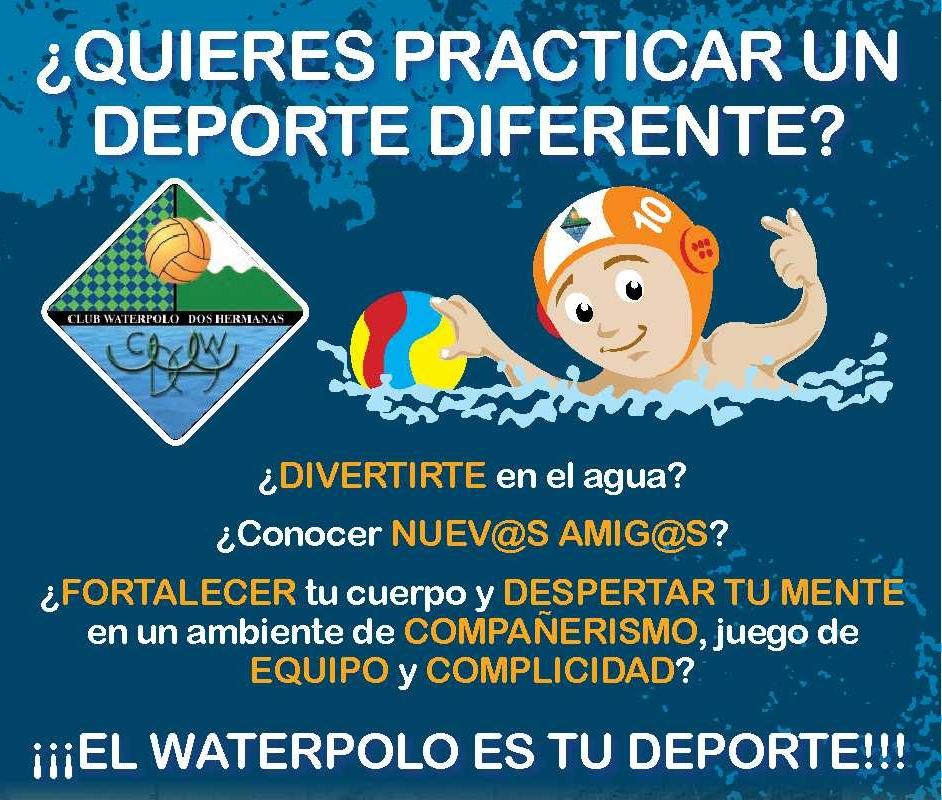 ¿Quieres practicar un deporte diferente? ¡El waterpolo es tu deporte!
