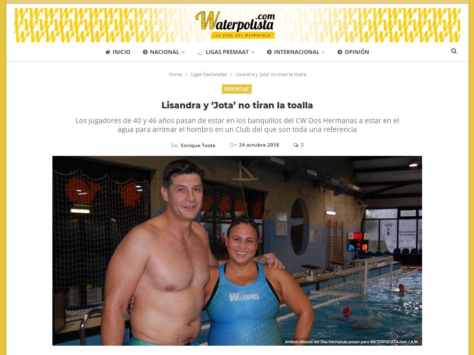 Waterpolista.com / Lisandra y 'Jota' no tiran la toalla