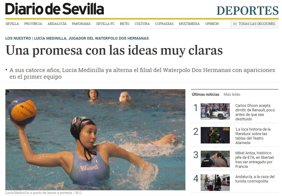 Lucía Medinilla, una promesa con las ideas muy claras