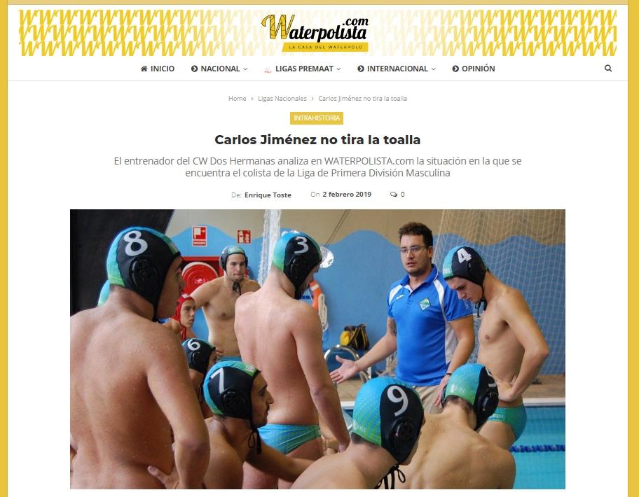 Carlos Jiménez no tira la toalla (waterpolista.com)
